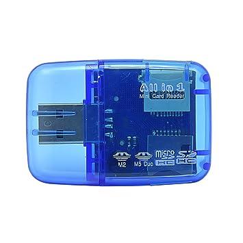 Lector de tarjetas USB, memoria SD Micro SD M2 MS Duo, 3 colores ...