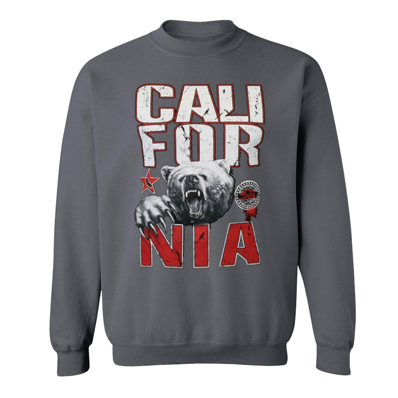 California Republic Bear Designs Unisex Crewneck