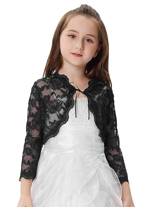 GRACE KARIN Prinzessin Maedchen 3/4 Arm Lace Bolero
