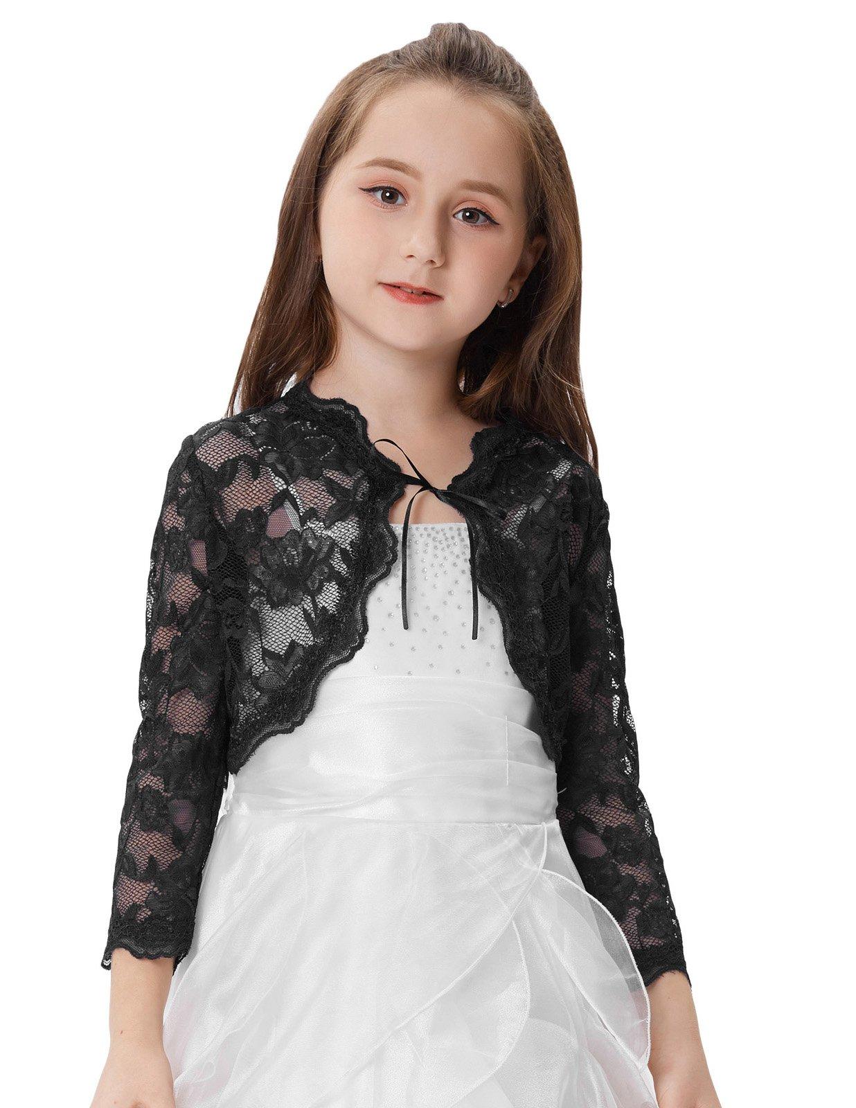GRACE KARIN Little Girls Lace Bolero Cardigan Shrug 7~8yrs CL664-3