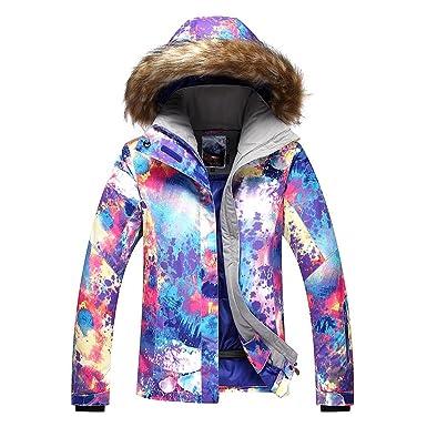 c6dd55647e HOTIAN Women s Waterproof Ski Snow Jakcet Colorful Outdoor Insulated Warm  Coat