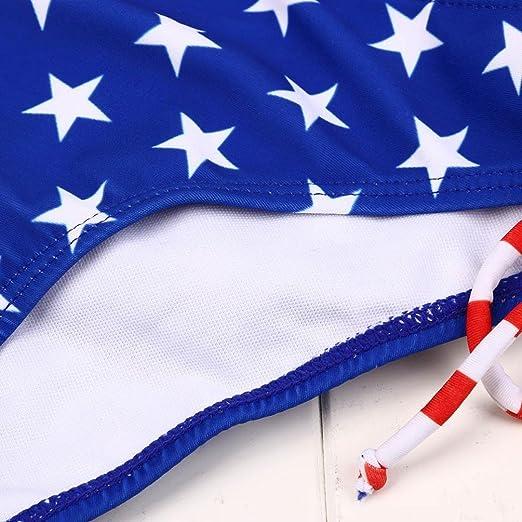 Bikini mujer nuevo Traje de baño, ❤ 💫 Ba Zha Hei Bandera nacional Red Stripe Bikini Siamese Swimwear Swimwear Conjunto de Bikini para playa Mujer Traje ...