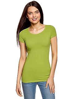 oodji Ultra Mujer Camisetas Ajustadas (Pack de 2): Amazon.es: Ropa ...