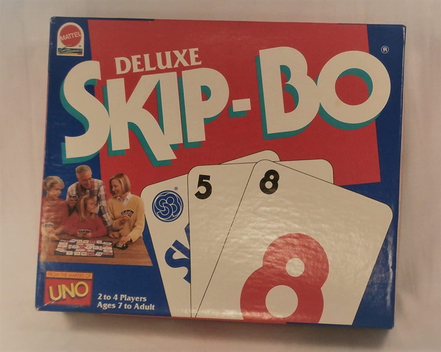 Deluxe Skip-Bo Sequential Stacking Card Game 1992 Edition