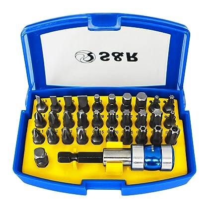 S&R Juego Vasos y Puntas para Destornilladores 32 pz. en caja de plástico