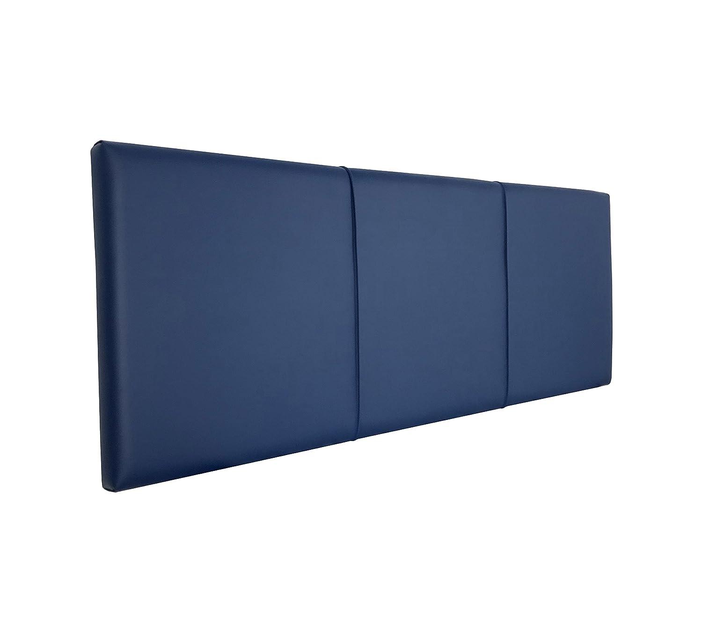 SERMAHOME- Cabecero Andorra tapizado Polipiel Color Azul. Medidas: 160 x 55 x 7 cm (Camas 135, 150 y 160 cm).: Amazon.es: Hogar