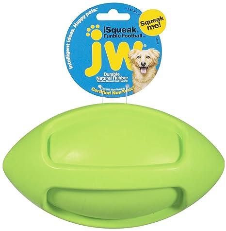 JW Juguete Isqueak Funble Football Large, Pequeño Balón De Rugby ...