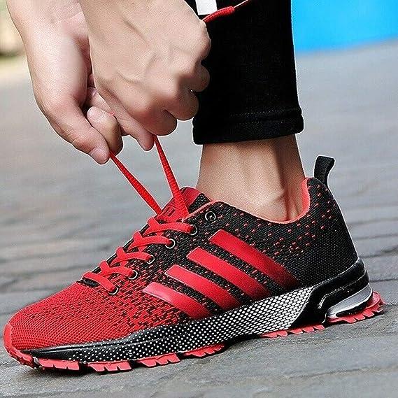 iSunday Hombre Zapatillas Running a Pie Tenis Atlético Corredor de Campo Informal Zapatillas - Rojo, 35: Amazon.es: Hogar