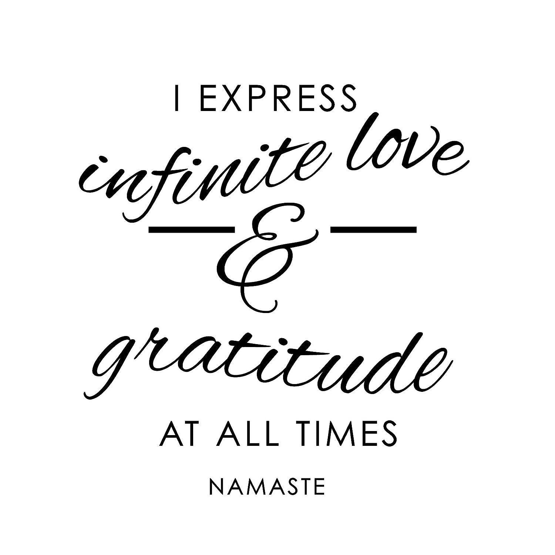 Love and Gratitude Namaste - Black, Large - Vinyl Wall Art Decal