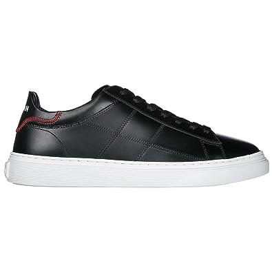 Hogan Zapatos Zapatillas de Deporte Hombres en Piel h365 Negro EU 41 HXM3650K692KLAB999: Amazon.es: Zapatos y complementos