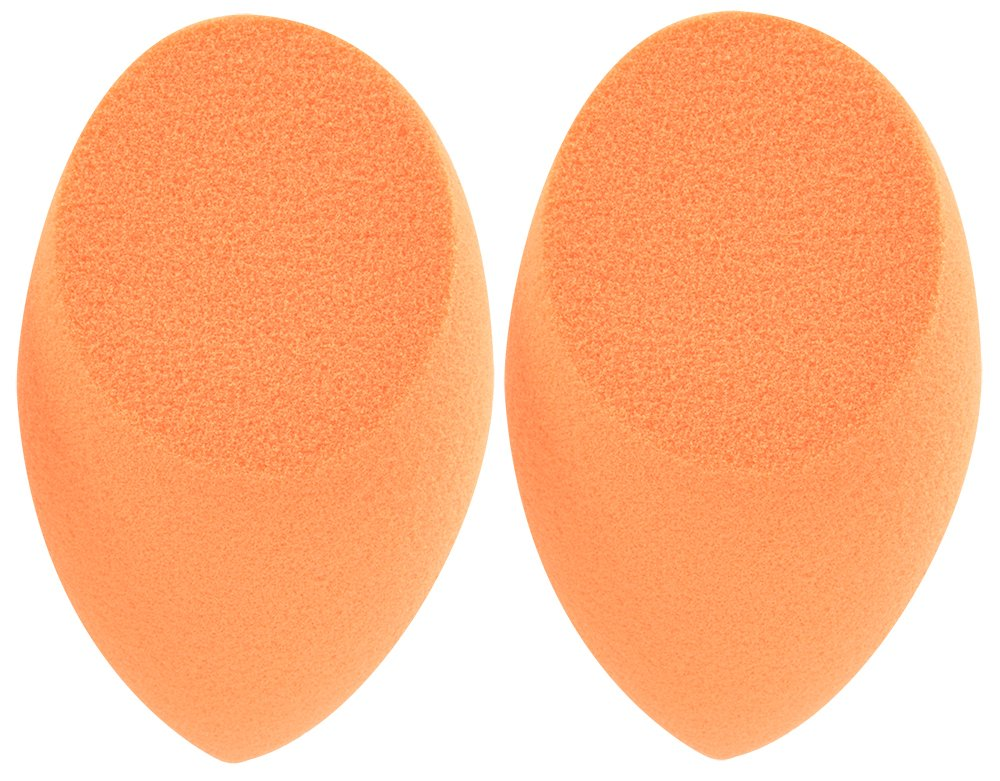 Real Techniques Miracle Complexion Sponge, 0.9375 ounce (Pack of 2), Latex-Free, Polyurethane Foam, Multi-Purpose, Round Bottom Makeup Sponges, Ideal for Blending
