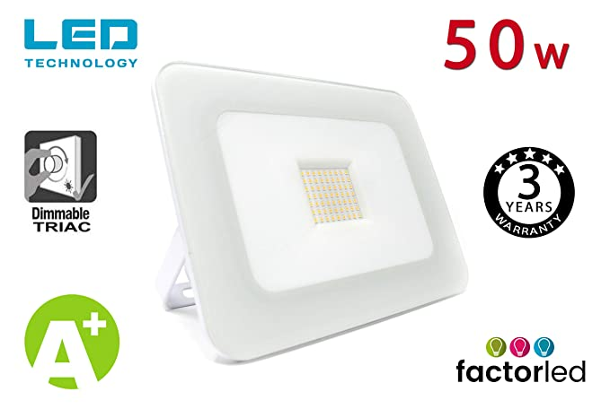 FactorLED Foco Proyector Exterior LED Luxury 50W Blanco ...
