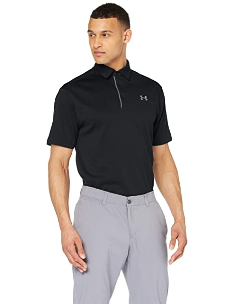 3286aa1d Under Armour Men's Tech Polo, Black (001)/Graphite, Small