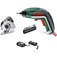 Bosch 06039A8043 IXO V Cordless Screwdriver Kit with Bosch IXO Cutting Adapter and 10 Screwdriver Bits