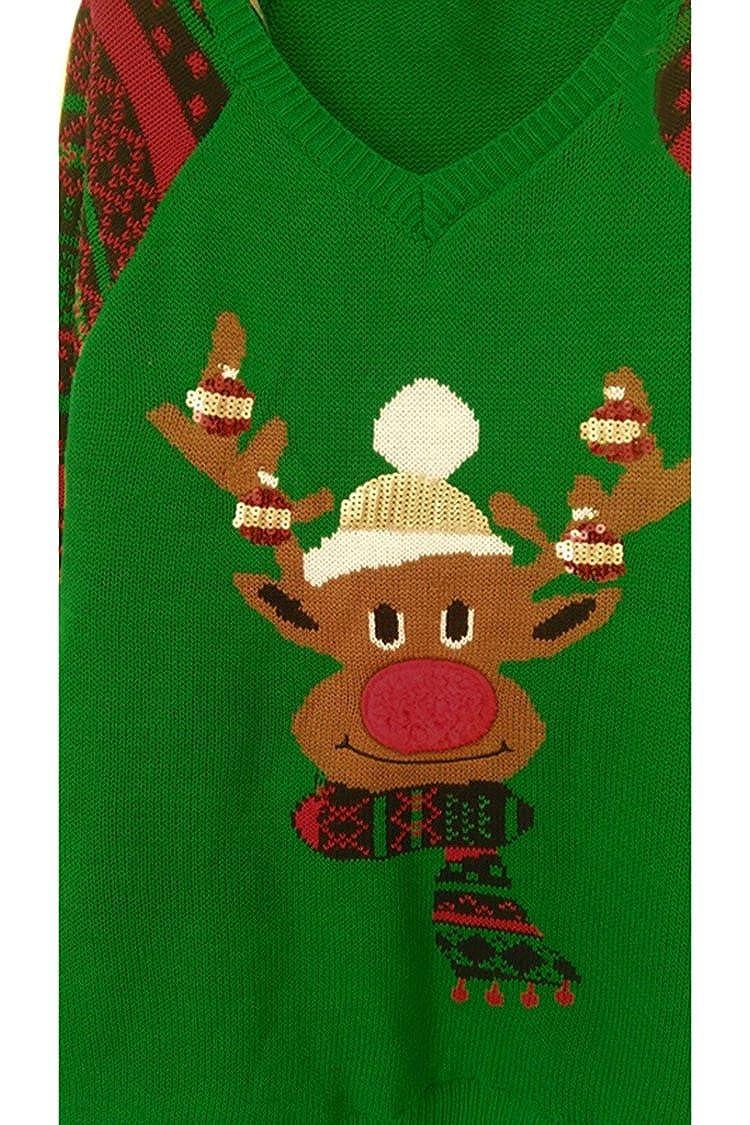 0276bfe0f2e1 Viottis Women s Animal Pattern Christmas X-Mas Pullover Knitted ...