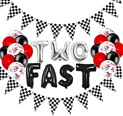 Racing Cars Birthday Banner,Racing Cars Birthday Party Decoration,Racing Cars Party Decor Racing Cars Party Supplies