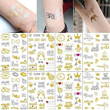 Nice 8pcs Waterproof Temporary Tattoos White Tatoo Hand Arm Flower Fake Tattoo Sticker For Women Lace Bracelet Tattoo Wedding Makeup Beauty & Health