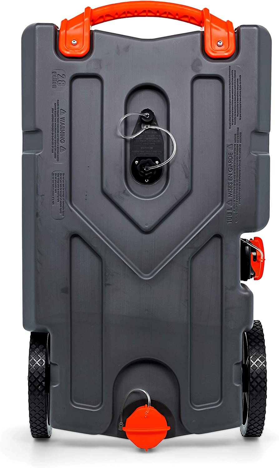 Amazon Com Camco Rhino Heavy Duty 28 Gallon Portable Rv Waste Holding Tank With Hose And Accessories Durable Leak Free And Odorless Rv Tote Tank 39004 Automotive