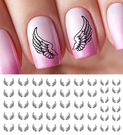 Amazon Angel Wings Water Slide Nail Art Decals Salon Quality