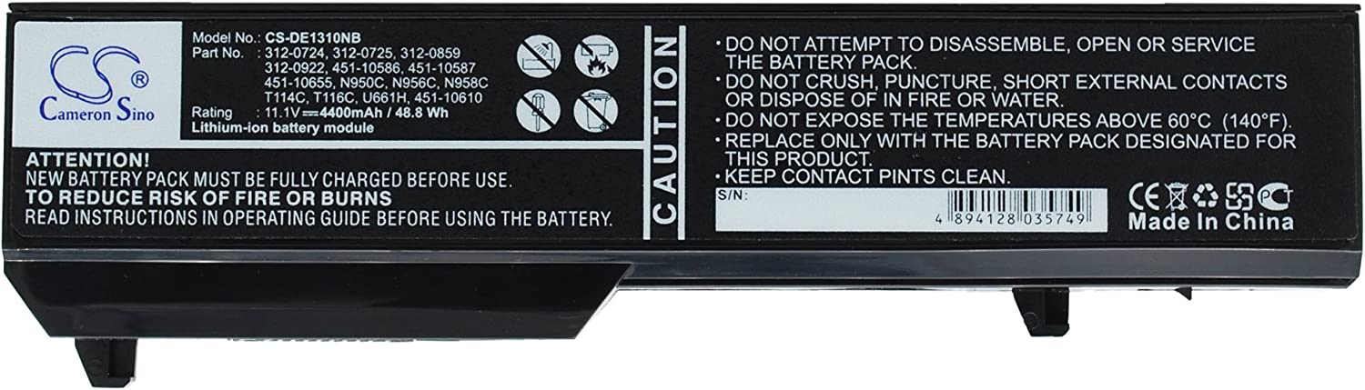 Cameron Sino Replacement Battery DELL Vostro 1310, Vostro 1320, Vostro 1510, Vostro 1511, Vostro 1520, Vostro 2510, Vostro PP36L, Vostro PP36S