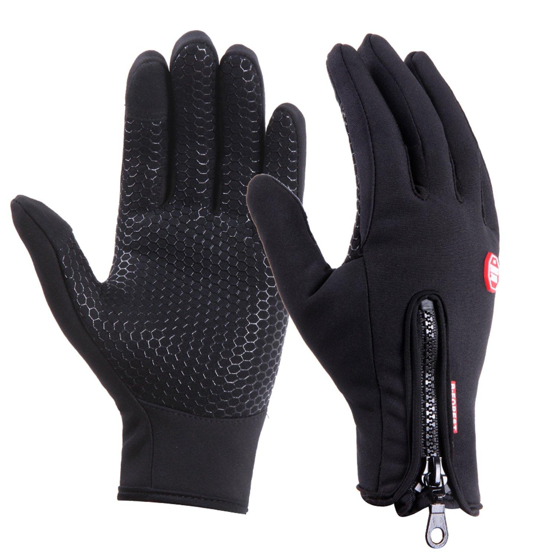 UPhitnis Winter Fahrradhandschuhe für Herren Damen - Outdoor Winddicht Touchscreen Handschuhe - Winterhandschuhe für Lauf Radfahren Jagd Sports