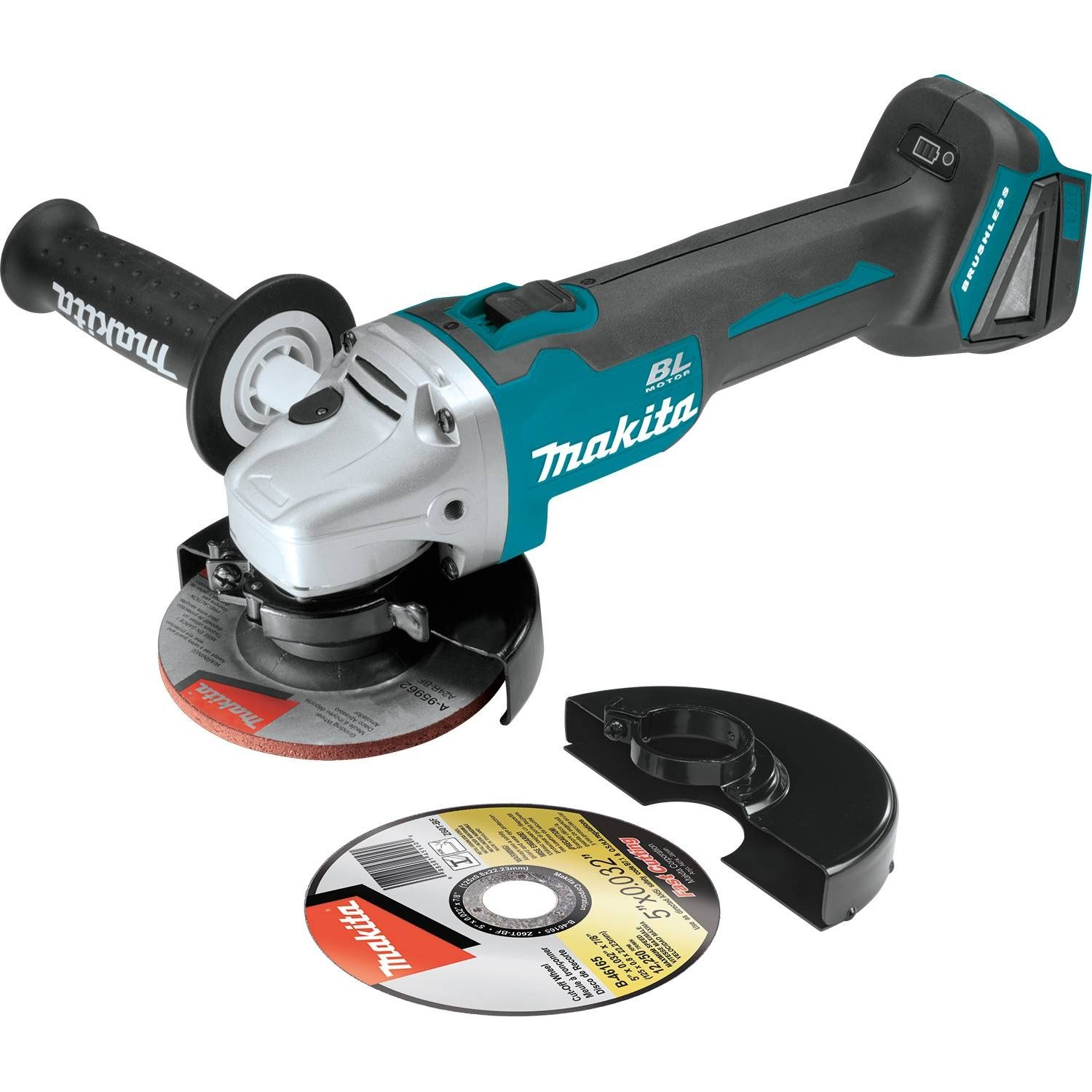 "Makita XAG04Z 18V LXT Lithium-Ion Brushless Cordless 4-1/2"" / 5"" Cut-Off/Angle Grinder, Tool Only"