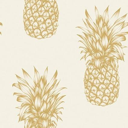 Arthouse Copacabana Gold Pineapple Wallpaper Modern Decor
