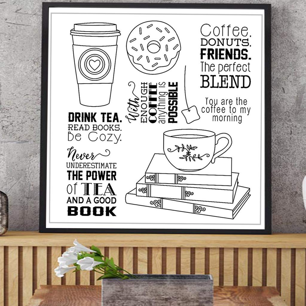 Zoeyomg Drink Tea DIY Silicone Clear Stamp Cling Seal Scrapbook Embossing Album Decor