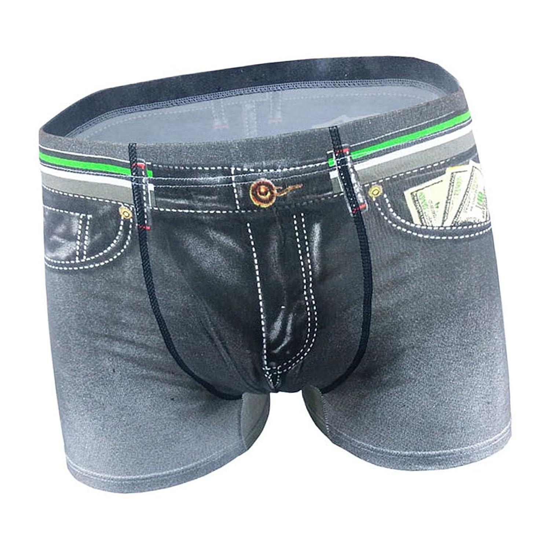 Gazechimp Boxer Slips Motif Jeans Denim 3D Imprimée Sous-vêtement Pour  Homme ... e05d4730afa