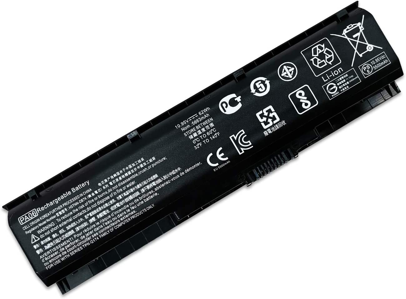 New PA06 HQ-TRE HSTNN-DB7K 849911-850 Laptop Battery Compatible with HP Omen 17 17-w 17-ab200 17t-ab00 Series Notebook 11.1V 62Wh