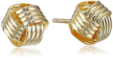 401eb59547daa 14k Yellow Gold Love Knot Stud Earrings