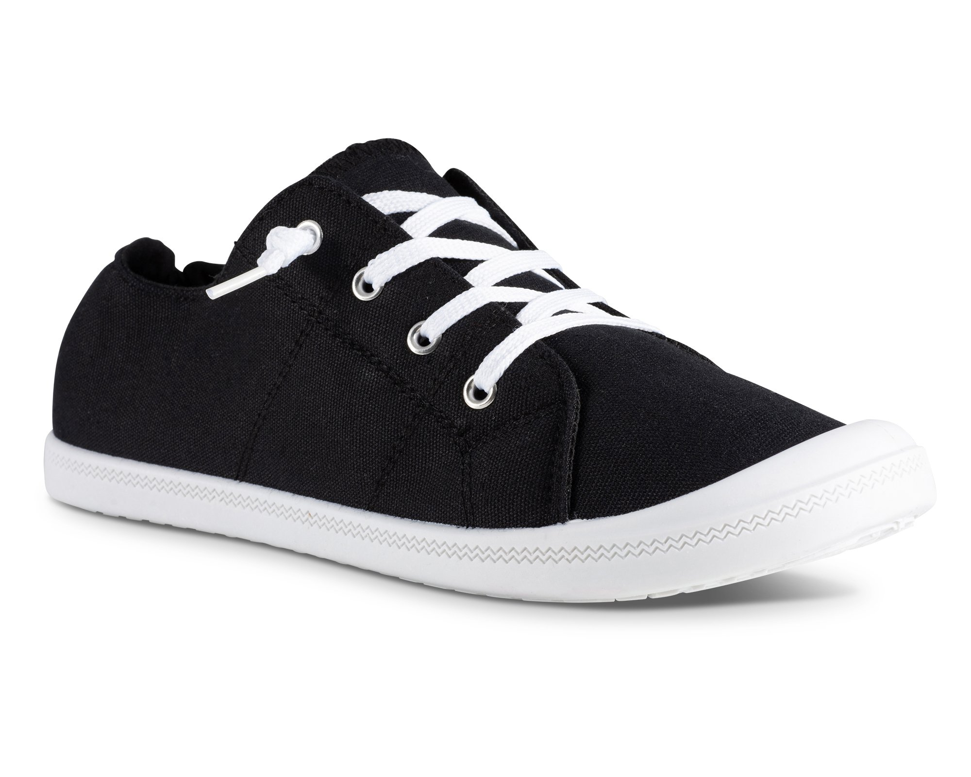 Twisted Womens Andrea Slip-On Canvas Sneakers - ANDREA05 Black, Size 9