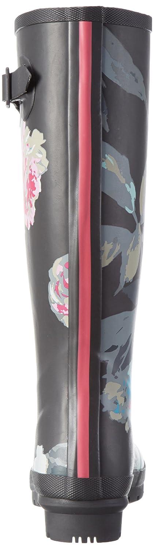 Joules Women's Welly Print Rain Boot B01M60XNYX 5 B(M) US Grey Beau Bloom
