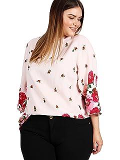 05e73d7055dbfd Lovedrobe Koko Women s Black Floral Print Cut-Out Mesh Blouse Ladies ...