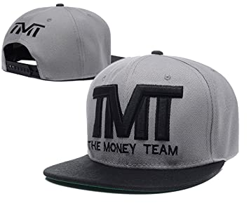 General The Money Team Snapback Sombreros TMT Gorras (de Colour Gris con Logo  Negro a681d0b21e7
