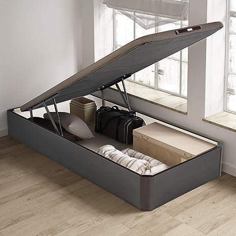 PIKOLIN, canapé abatible de almacenaje Color wengué 90x190, Servicio de Entrega Premium Incluido