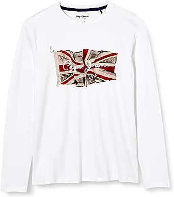 Pepe Jeans Flag Logo JR Camiseta para Niños
