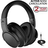 Avantree Active Noise Cancelling Bluetooth Over Ear Headphones with Mic, Wireless/Wired ANC Headphones, Fast Stream Low Latency Hi-Fi Headset for TV PC Gaming Phones - ANC031
