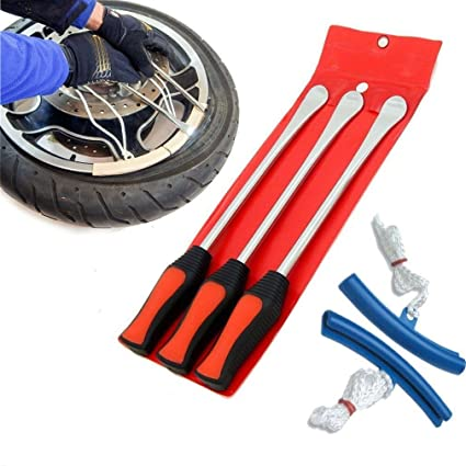 Spoon Motorcycle Tire Iron Irons Changing Rim Protector Tool Combo New with Case