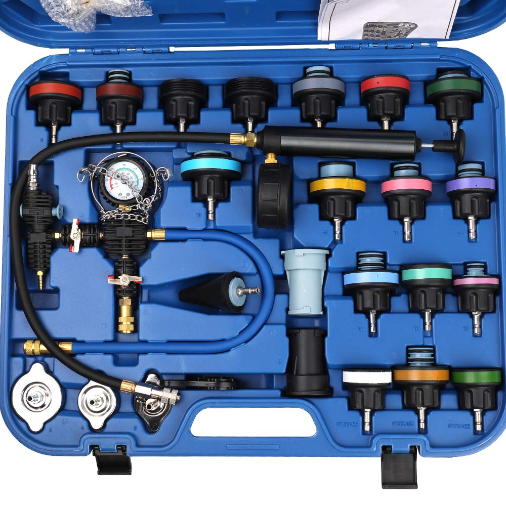 Docooler 28pcs Universal Radiator Pressure Tester Vacuum Type Cooling System Test Detector Kits by Docooler1 (Image #1)