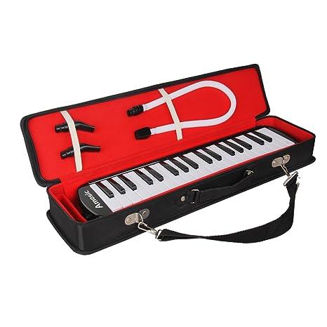 Amosic melódica Teclado de 37 teclas estilo piano para regalo de música para niños, adecuado para ...