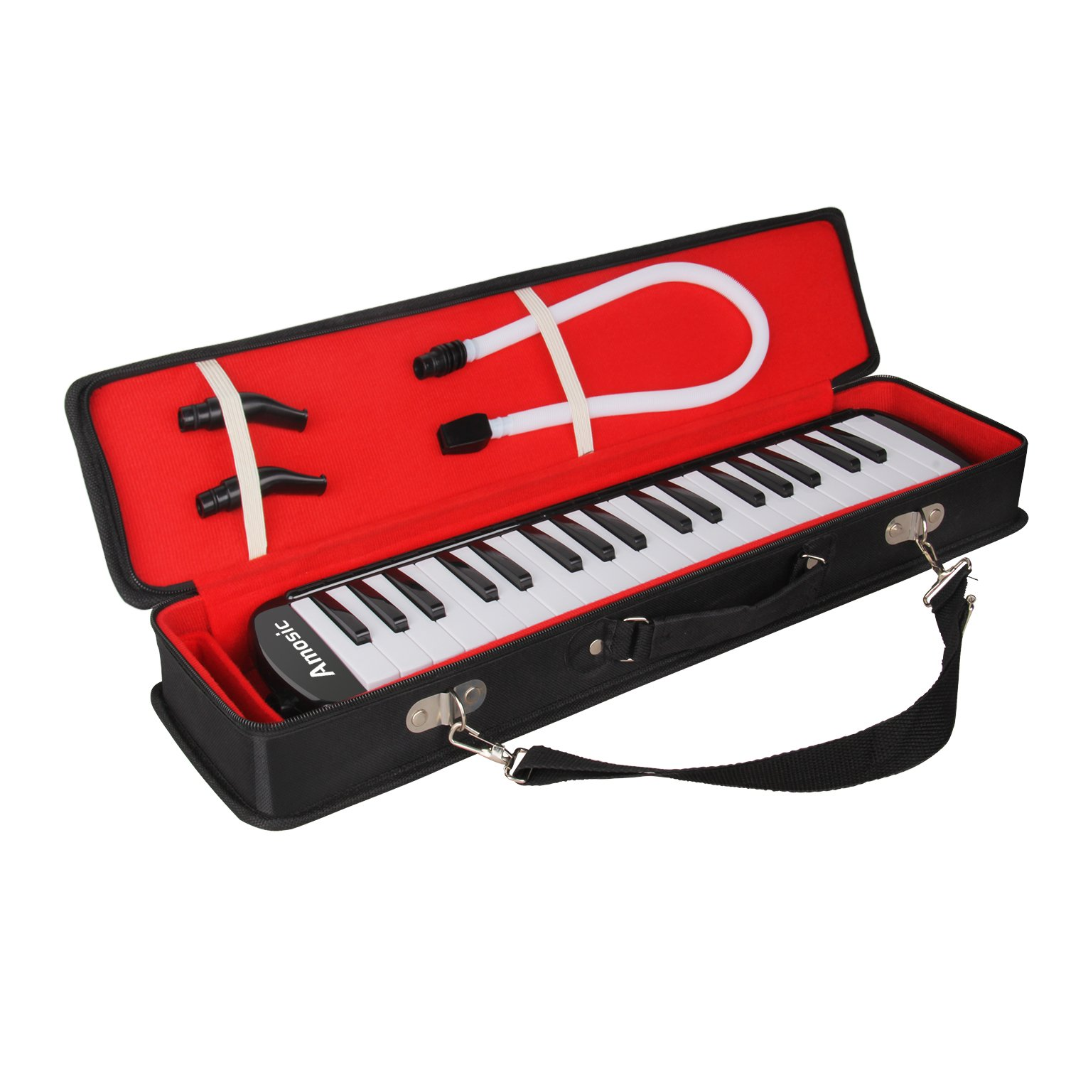 Amosic Melodica 37 Keys Piano Style Keyboard Standard Tone Suitable for Teaching and Playing with a Carry Bag, Kids Music Gift