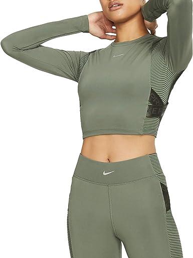 Decano sonrojo Exactitud  NIKE W NP Capsule LS Top Aero-Adapt Camiseta de Manga Larga Mujer:  Amazon.es: Deportes y aire libre
