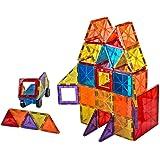 Mag-Genius Award Winning building Magnet Tiles Blocks Clear Colors 3D Brain Building Blocks Set of 108 +15 extra piece set bo