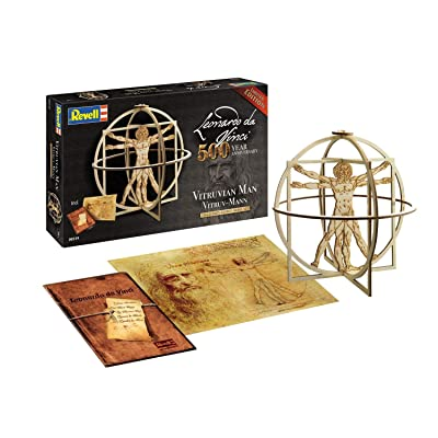 Revell RV00519 00519 519 1:16 Vitruv Man (Leonardo da Vinci 500th Anniversary) Wooden Model Kit Plastic, Various: Toys & Games