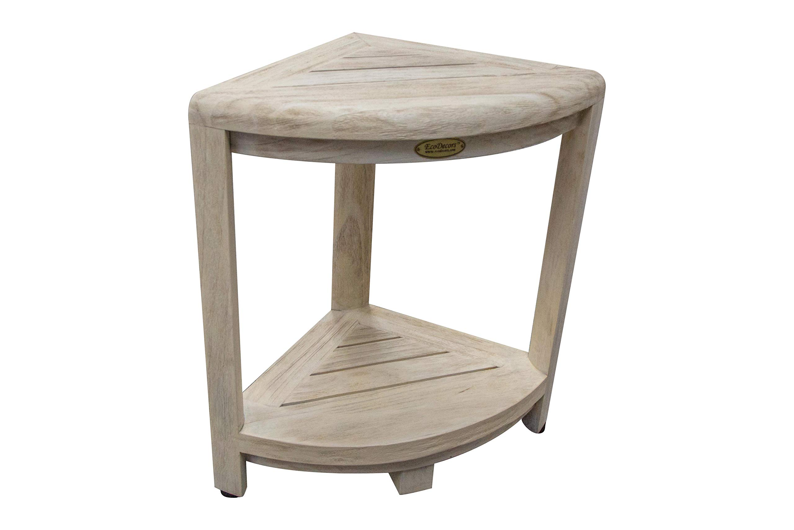 CoastalVogue Oasis Shower Stool Driftwood