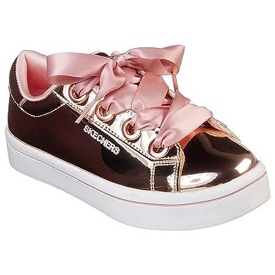 a6dd66f6d7b6 Skechers Girls HI-LITE Liquid Bling Rose Gold Metallic Platform Pumps  84693LRSGD-UK 5 (EU 38)  Amazon.co.uk  Shoes   Bags