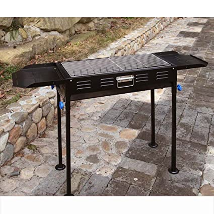 Barbacoa YONG@ Parrilla grande Carbón de leña al aire libre portátil Casa Rack Field Box