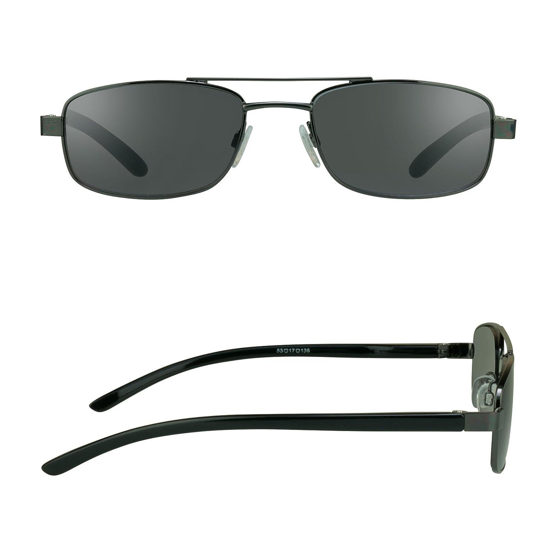 anteojos de cuadrado lectura con Aviator tintadas con Humo lentes ...
