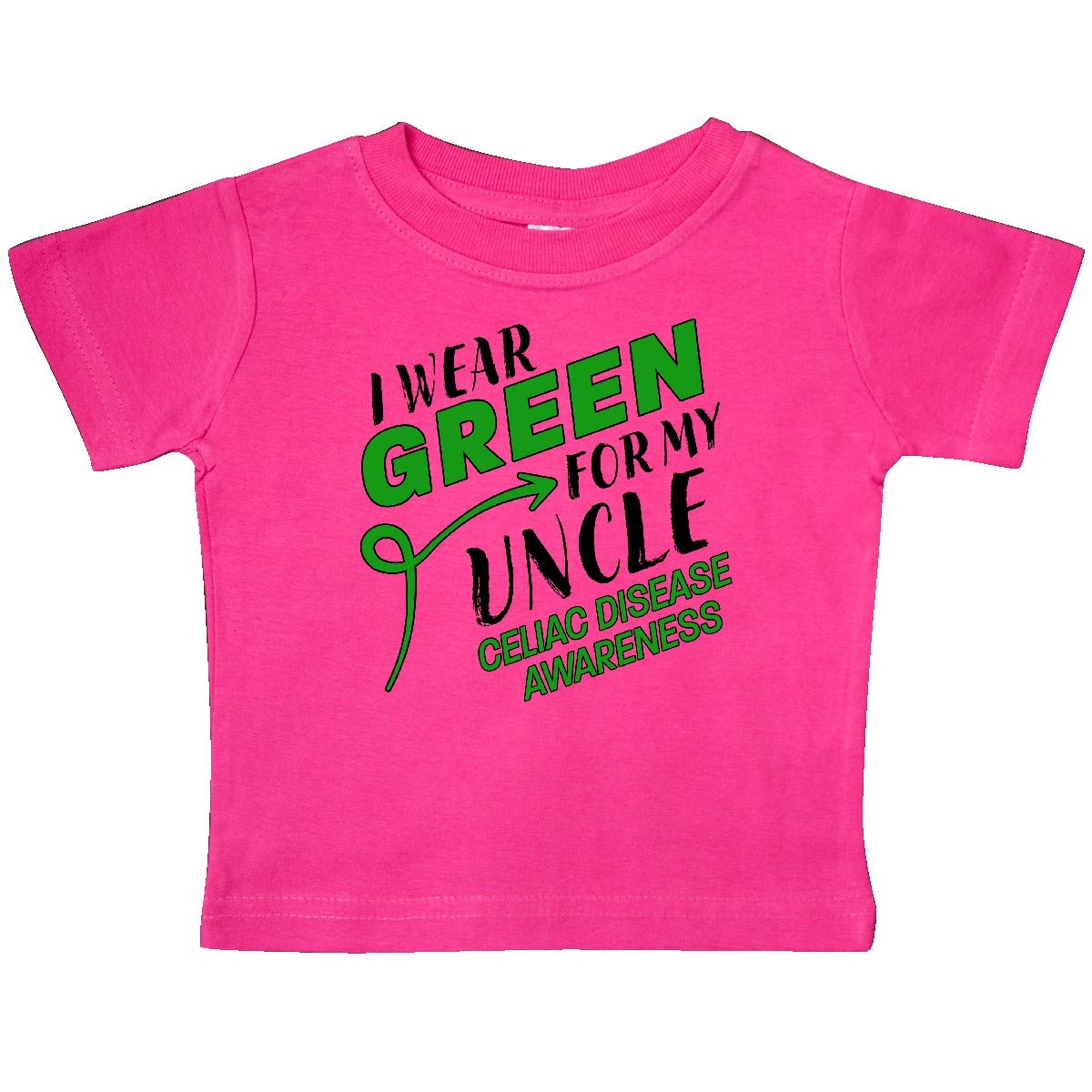 inktastic I Wear Green for My Uncle Celiac Disease Awareness Baby T-Shirt